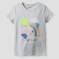 Girls' How Rainbows Work Graphic Tee - Cat & Jack™ Light Gray