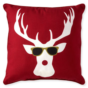 Aeropostale  Cool Moose Throw Pillow - Red, One