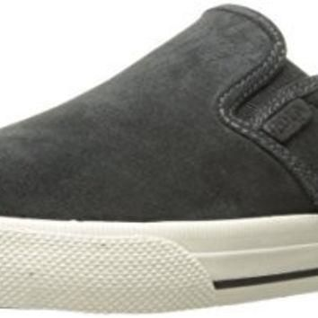 Polo Ralph Lauren Men's Vaughn Slip Sneaker, Dark Charcoal Grey, 7 D US
