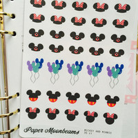 Mickey and Minnie Planner Stickers