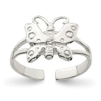 Sterling Silver Polished Fancy Toe Ring