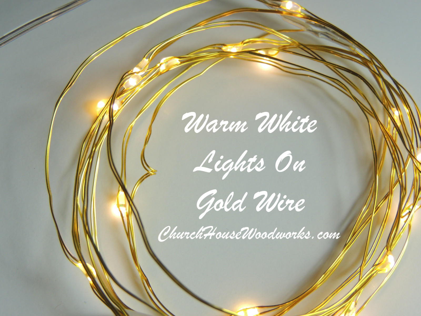 Warm White On Gold Wire Battery Fairy from Church House Woodworks