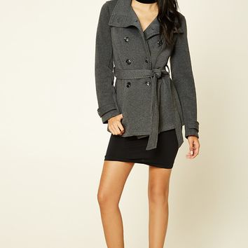 Funnel Neck Belted Jacket