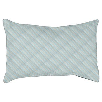 Blue Grey Rectangle Pattern, Indoor Dog Bed Small Dog Bed