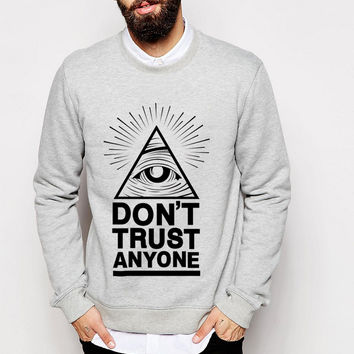 Dont Trust Anyone all seeing eye 2017 autumn winter fashion men sweatshirts funny hoodie tracksuit top brand clothing hoody punk