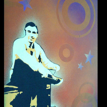 24 x 32 Pop Art Painting Custom Mr. Fred Rogers Rodgers Unframed. Frame available for separate purchase