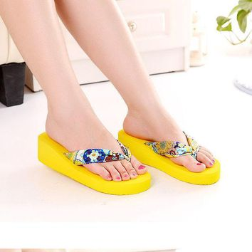 ac PEAPON Summer Ladies Wedge Butterfly Sandals High Heel Slippers [10210878860]