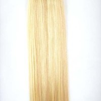 """20 Pieces 18"""" Seamless Remy Tape in Hair Extensions #16/613 Ash Blonde & Bleach Blond Piano Blend Highlight"""