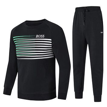 Boys & Men Hugo Boss Top Sweater Pants Hoodie Trousers Set Two-Piece Sportswear