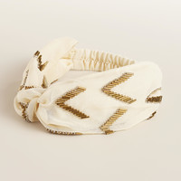 Ivory Bead Turban - World Market