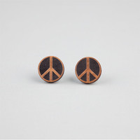 Goodwood Nyc Peace Stud Earrings Black One Size For Women 22066310001
