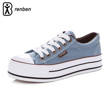 RenBen 2017 Canvas Flats Casual Shoes Women Fashion Breathable Pump Female Shoes For women Durable Oxford Footwear zapatos mujer