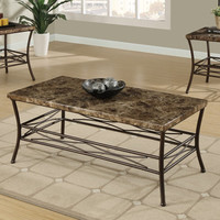 Dria 3 Piece Faux Marble Coffee Table/ End Tables