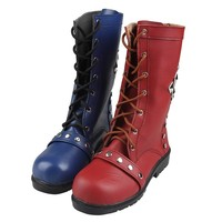 Batman Harley Quinn Cosplay Shoes Arkham Knight Cosplay Boots batman Boots batman cosplay accessories for Adult Women