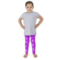 Unicorn Kids Leggings - Purple