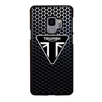 TRIUMPH MOTORCYCLE LOGO Samsung Galaxy S4 S5 S6 S7 S8 S9 Edge Plus Note 3 4 5 8 Case Cover