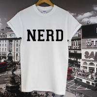 NERD TOP GEEK WASTED YOUTH DOPE SUPREME HIPSTER VINTAGE 90s 80s SHOP T SHIRT NEW