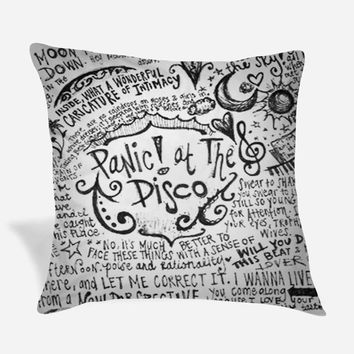Panic at The Disco Lyric Pillow Case