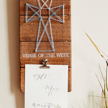 Verse of The Week String Art Box Sign