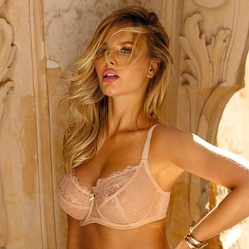 Sheer Lace Full Figure Bra Subtille Aurora Beige