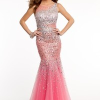 Sequin Mermaid Illusion Dress