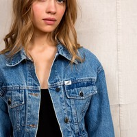 Vintage Guess Cropped Denim Jacket - Urban Outfitters