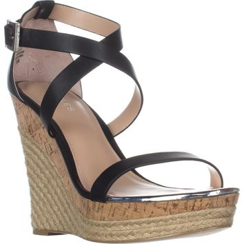 Charles Charles David Aden Wedge Wespadrilles Sandals, Black, 9.5 US