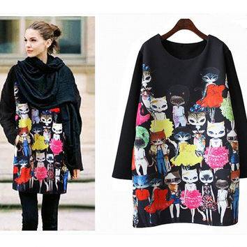 M-4XL Autumn Hoodies For  Women 2016 New Harajuku Pullovers Loose Casual Thicken Sweatshirt Women Sweatshirts Moletom Plus Size