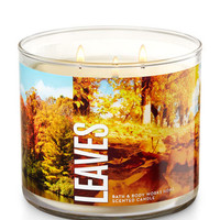Leaves 3-Wick Candle | Bath And Body Works