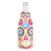 Sugar Skull Bottle Cooler - Day of the Dead Koozie