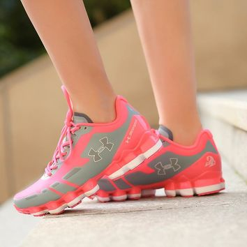 Best Deal Online Under Armour UA Scorpio Women Running Shoes Gray Pink White