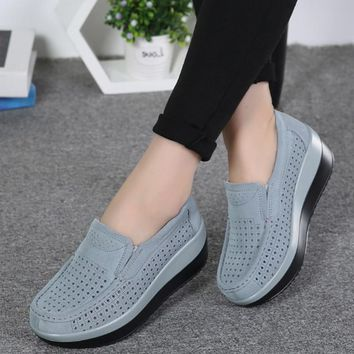 Summer Women Platform Casual Shoes Slip on Ladies  Women  Shoes