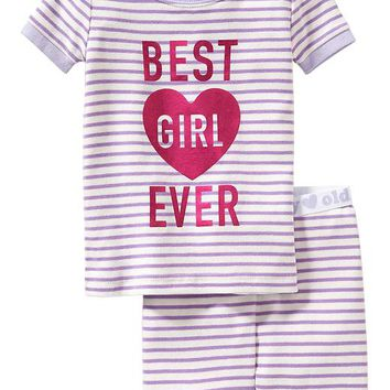 "Old Navy ""Best Girl Ever"" PJ Sets For Baby"