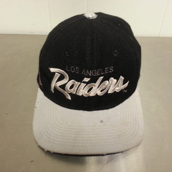 Rare Vintage LA Raiders Sport Specialties Script Fitted Hat 90's NFL Football Unsure of The Size Made In USA