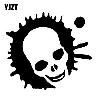 YJZT 9.8*8.9CM ZOMBIE LAND Cartoon Funny Car-styling Car Sticker Black/Silver Vinyl Decals S8-1263