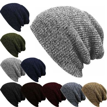Men's Fashion Baggy Beanie Oversize Women Winter Warm Hat Ski Slouchy Chic Crochet Knitted Cap Skullies