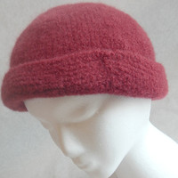 Red Cloche felted 100% wool hat