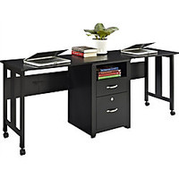 Altra 2 Person Wood Computer Desk 27 34 H x 73 78 W x 19 34 D Espresso by Office Depot & OfficeMax