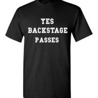 Yes Backstage Passes