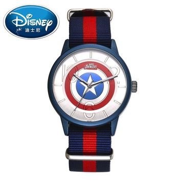 Disney Kids Watch Marvel Super Hero Fashion Simple Cool Wristwatches Boys Mickey Mouse Gift Waterproof for Men Clock