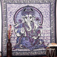 Indian Lord Ganesh Tapestry ,Wall Tapestries,Hippie Tapestry,beautiful decor Art, Lord Ganesha Deity Art, Indian God Tapestry, Ganesha Wall