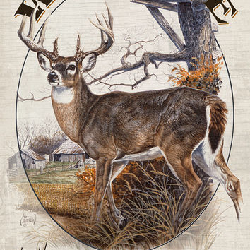 Deer Welcome Personalized Print / Sign / Poster