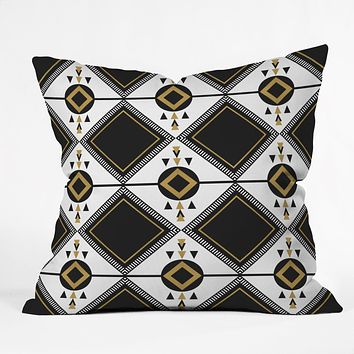 Elisabeth Fredriksson North Black Throw Pillow