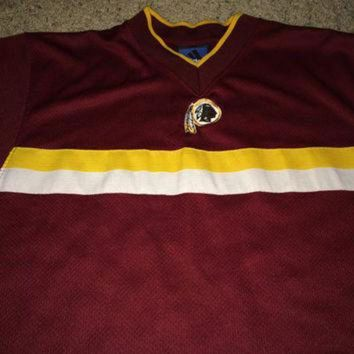 DCCK8X2 Sale!! Vintage Adidas WASHINGTON REDSKINS Football Jersey NFL Shirt Made in Usa