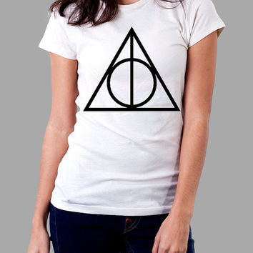 DEATHLY HALLOWS Shirt Harry Potter Shirt TShirt T Shirt Tee Shirts - Size S M L