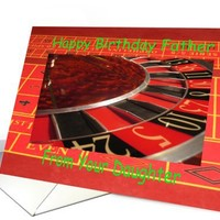 Father happy birthday from Daughter Roulette Wheel card