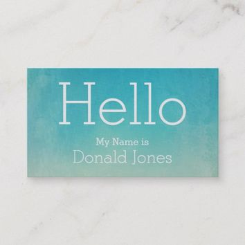 Hello Green Watercolor Business Card