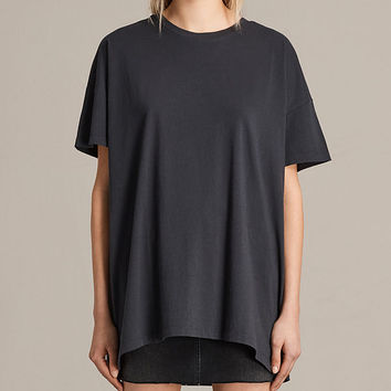 ALLSAINTS US: Womens Cora Tee (Washed Black)