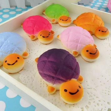 CA Jumbo Squishy Bread Scented Tortoise Phone Charms Bun Soft Straps Toys