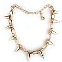 Cryptic Cult — spiked chain necklace